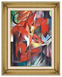Franz Marc The Foxes canvas with gallery gold wood frame