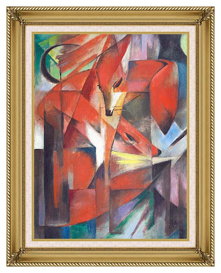 Franz Marc The Foxes with Gallery Gold Frame w/Liner