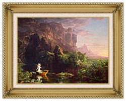 Thomas Cole Voyage Of Life Childhood 1842 canvas with gallery gold wood frame