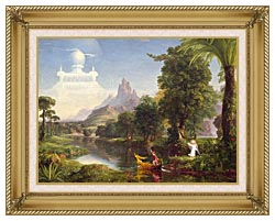 Thomas Cole Voyage Of Life Youth 1842 canvas with gallery gold wood frame