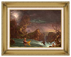 Thomas Cole Voyage Of Life Manhood 1842 canvas with gallery gold wood frame
