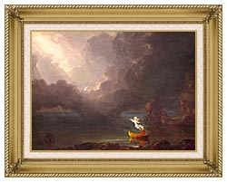 Thomas Cole Voyage Of Life Old Age 1842 canvas with gallery gold wood frame