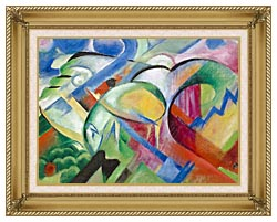Franz Marc The Sheep canvas with gallery gold wood frame