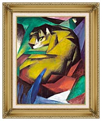 Franz Marc The Tiger canvas with gallery gold wood frame