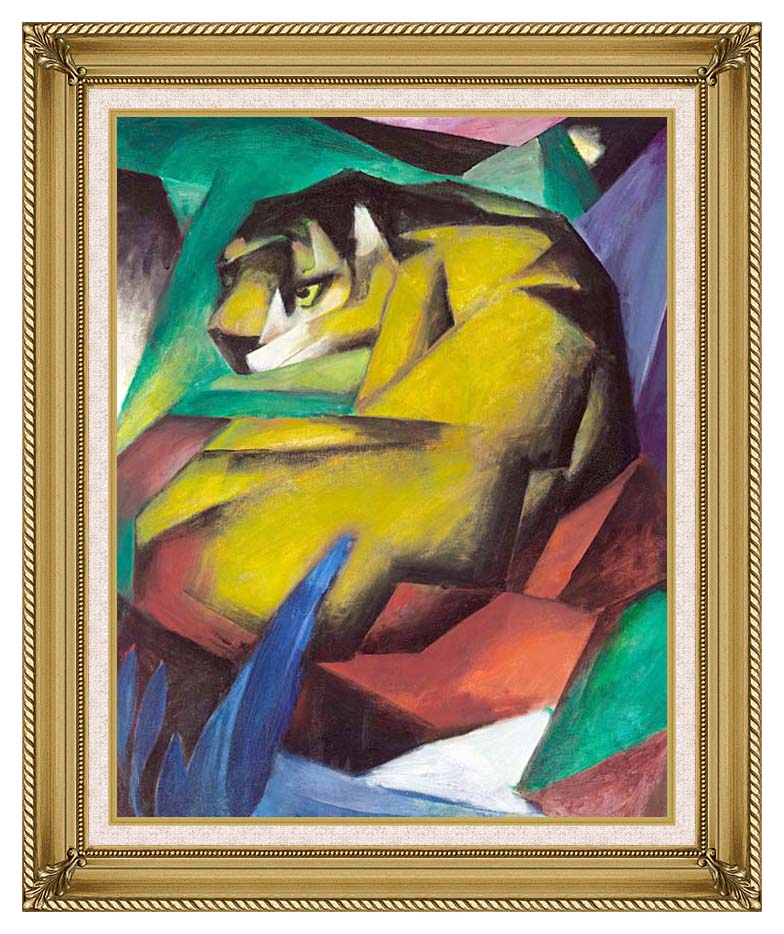 Franz Marc The Tiger with Gallery Gold Frame w/Liner