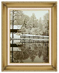 Ray Porter Images canvas with gallery gold wood frame