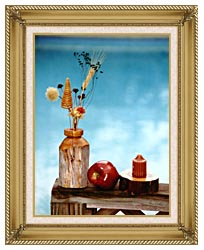 Ray Porter Autumn Still Life canvas with gallery gold wood frame