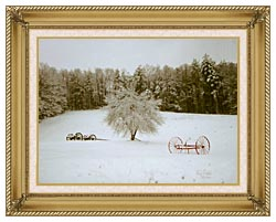 Ray Porter Crystal Tree canvas with gallery gold wood frame