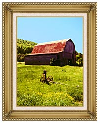 Ray Porter Country Springtime canvas with gallery gold wood frame