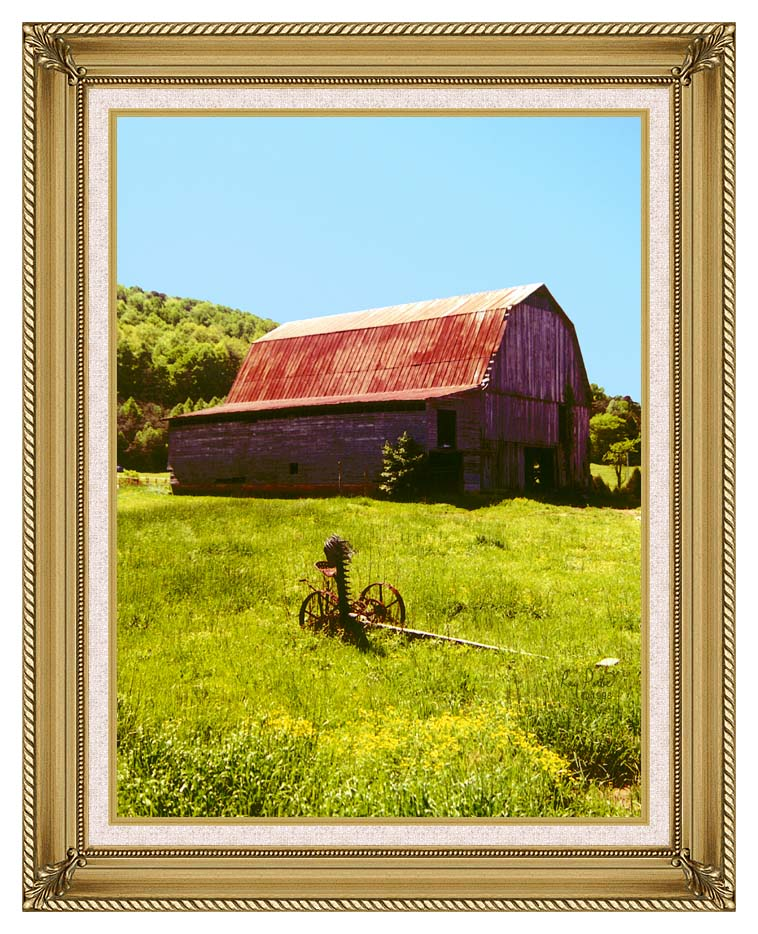 Ray Porter Country Springtime with Gallery Gold Frame w/Liner