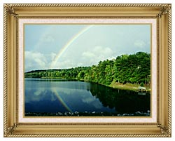 Ray Porter Rainbow canvas with gallery gold wood frame