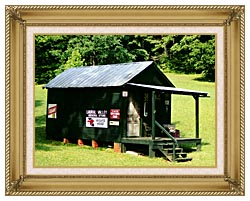 Ray Porter Country Store canvas with gallery gold wood frame