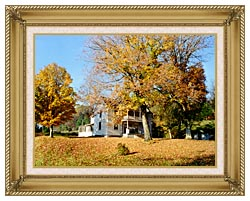 Ray Porter Country House canvas with gallery gold wood frame