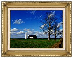 Ray Porter Uncle Buds Barn canvas with gallery gold wood frame