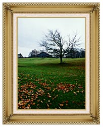 Ray Porter Winters Nye canvas with gallery gold wood frame