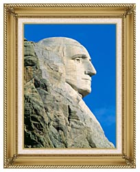 Visions of America George Washington On Mount Rushmore canvas with gallery gold wood frame