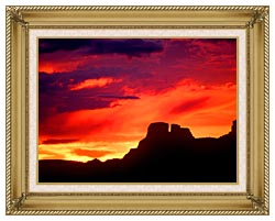 Visions of America Indian Ruins Chaco Canyon At Sunset New Mexico canvas with gallery gold wood frame