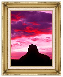 Visions of America Indian Ruins At Sunset Chaco Canyon New Mexico canvas with gallery gold wood frame