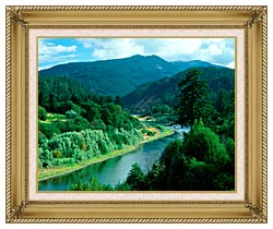 Visions of America Rogue River In Southern Oregon canvas with gallery gold wood frame