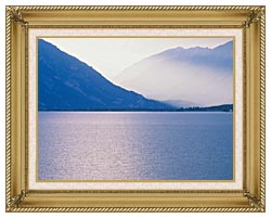 Visions of America Aspen And Rocky Mountains From Lake Colorado canvas with gallery gold wood frame
