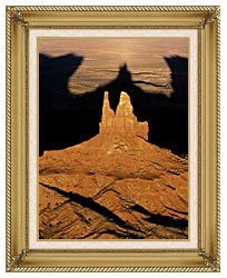 Visions of America The Navajo Tribal Park At Sunset canvas with gallery gold wood frame