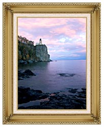 Visions of America Split Rock Lighthouse On Lake Superior canvas with gallery gold wood frame