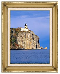 Visions of America Split Rock Lighthouse Minnesota canvas with gallery gold wood frame