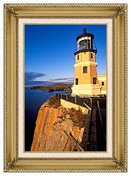 Visions of America Split Rock Lighthouse State Park Minnesota canvas with gallery gold wood frame