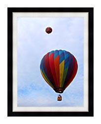 Brandie Newmon Hot Air Balloons canvas with modern black frame