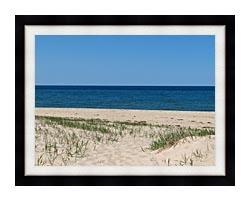 Brandie Newmon Race Point Beach Provincetown Massachusetts canvas with modern black frame