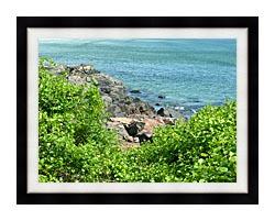 Brandie Newmon Marginal Way Ogunquit Maine canvas with modern black frame