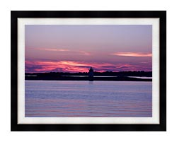 Brandie Newmon Provincetown Lighthouse At Dusk Massachusetts canvas with modern black frame