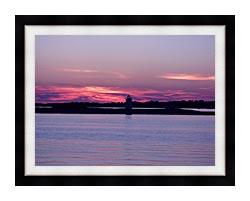 Brandie Newmon Provincetown Lighthouse At Dusk Massachusetts canvas with modern black frame