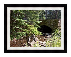 Brandie Newmon Rock Bridge At Mount Tom Massachusetts canvas with modern black frame