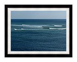 Brandie Newmon Ocean Waves In Ogunquit Maine canvas with modern black frame