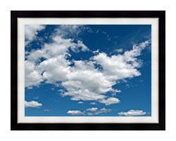 Brandie Newmon Cloudy Summer Day canvas with modern black frame