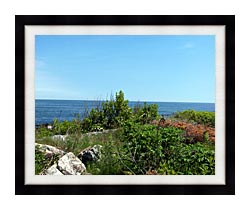 Brandie Newmon Marginal Way Overlook canvas with modern black frame