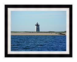 Brandie Newmon Wood End Lighthouse Provincetown Massachusetts canvas with modern black frame