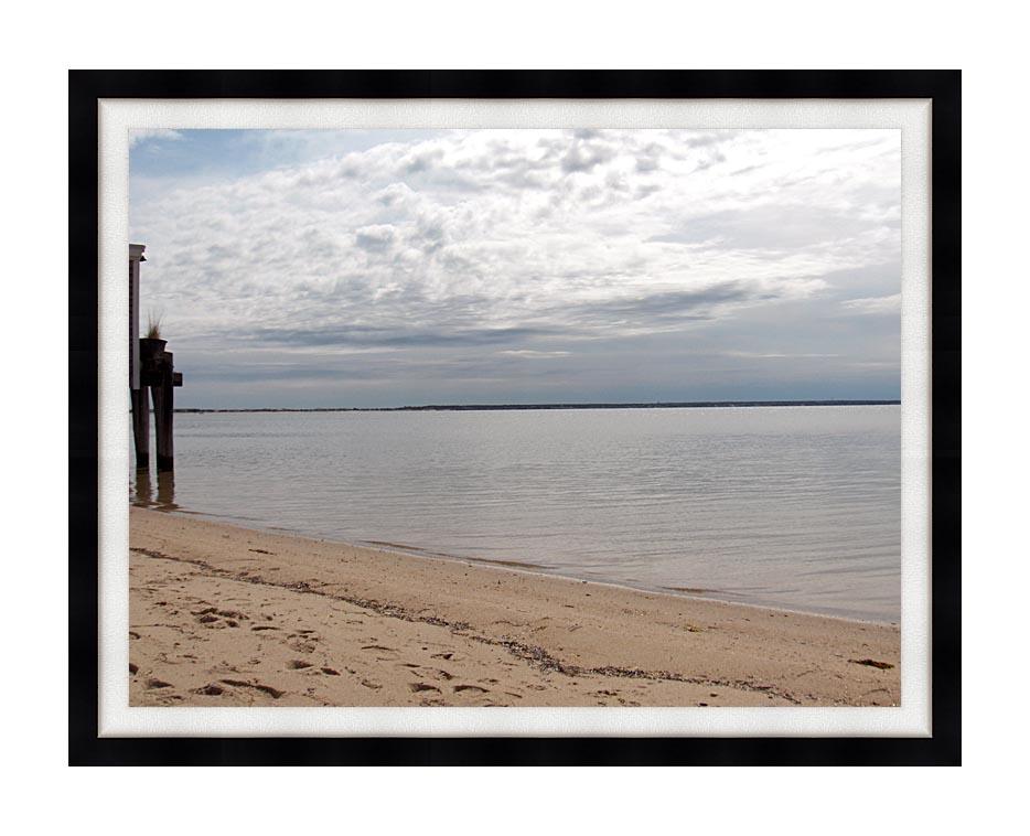 Brandie Newmon Sandy Beach in Provincetown, MA with Modern Black Frame