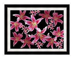 Brandie Newmon Lily canvas with modern black frame
