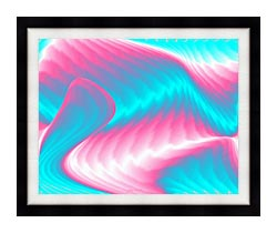 Lora Ashley Miami Surf canvas with modern black frame