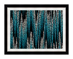 Lora Ashley Cascading Pearls canvas with modern black frame