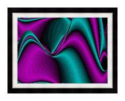 Lora Ashley Blocked Curves canvas with modern black frame