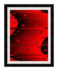 Lora Ashley Balance Red And Black canvas with modern black frame