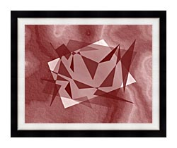Lora Ashley Fragments Unite Cranberry Brown canvas with modern black frame