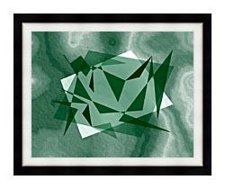 Lora Ashley Fragments Unite Green canvas with modern black frame