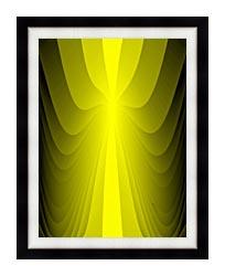 Lora Ashley Lemon Slide canvas with modern black frame