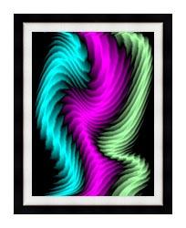 Lora Ashley Dancing Rays canvas with modern black frame