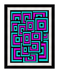 Lora Ashley Data Overload canvas with modern black frame