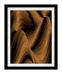 Lora Ashley Chocolate River canvas with modern black frame